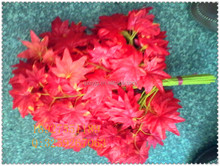SY1003 artificial red maple leaves / fake plastic leaves /cheape artificial leaf