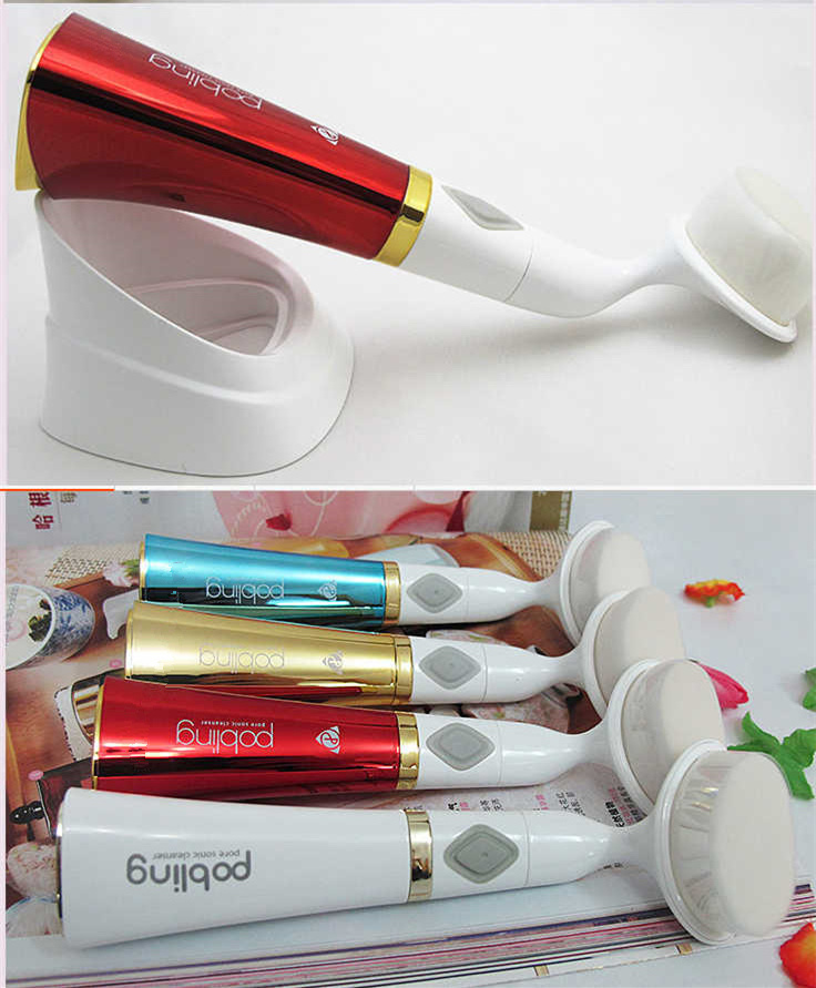 Beauty equipment home use rotary brush facial massager