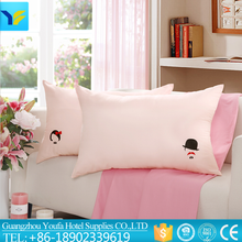 oblong made in China 100% silk wholesale cheap pink color cotton bedding set/linen/sheet/pillow