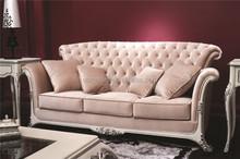 High end fancy living room fabric sofa