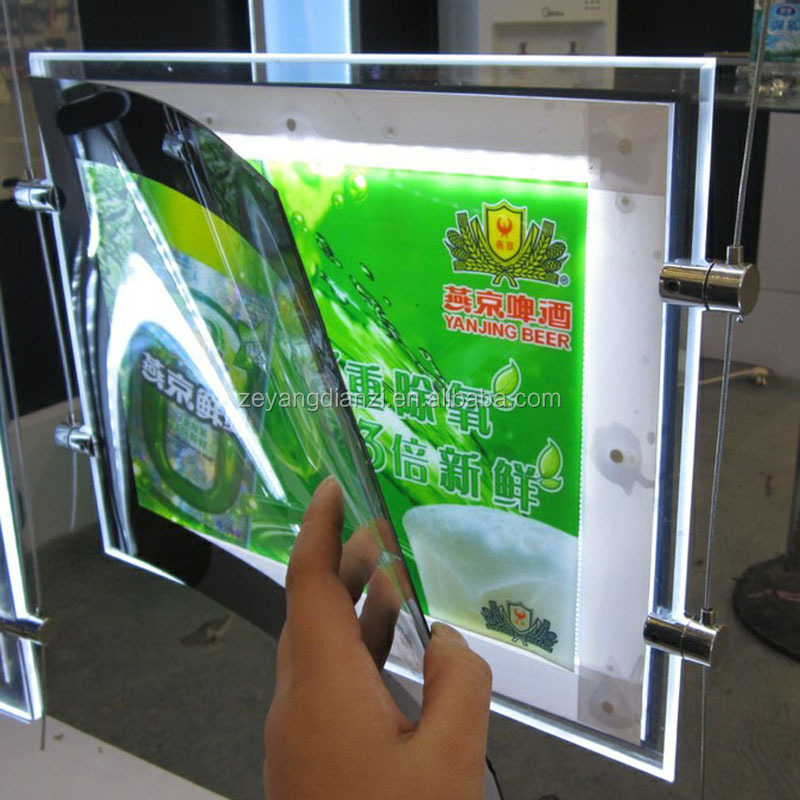 2015 illuminated Acrylic Advertising Light Box/LED Poster Frame/LED light frame