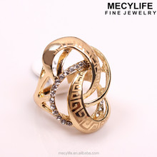 MECY LIFE occident hot selling exaggerated fashion female inlaid diamond fashion vintage finger rings