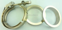 2.75'' high quality quick release v types band turbo flange clamps on automotive muffler
