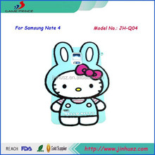 Fashion Hello Kitty Silicon Case Back Cover for Samsung Galaxy Note 4,N9100