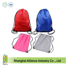 Cheap Promotional Blank Nylon Drawstring Backpack,High Quality Waterproof Blank Drawstring Bag With PVC Corner