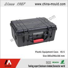 Black plastic equipment case with handle 45-5