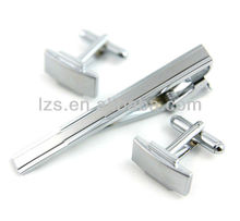 high polish sword color cufflinks and tie clips set