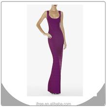 OEM bandage long abaya pictures hl purple women wedding dress