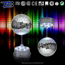 30cm disco lights multicolor reflective mirror glass ball for christmas