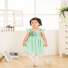 NO MOQ Sequined child ballet dance dress /stage performance kid dance dress