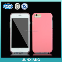Slim high impact soft tpu bumper+hard pc combo case for iphone 6