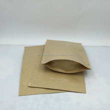 Brown stand up kraft paper bag for food