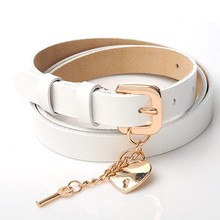 white color ladies obi leather belt