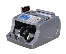Counterfeit Money Counter and Detector with LCD Large Display Especially for CNY, USD, EUR, HKD, GBP, JPY