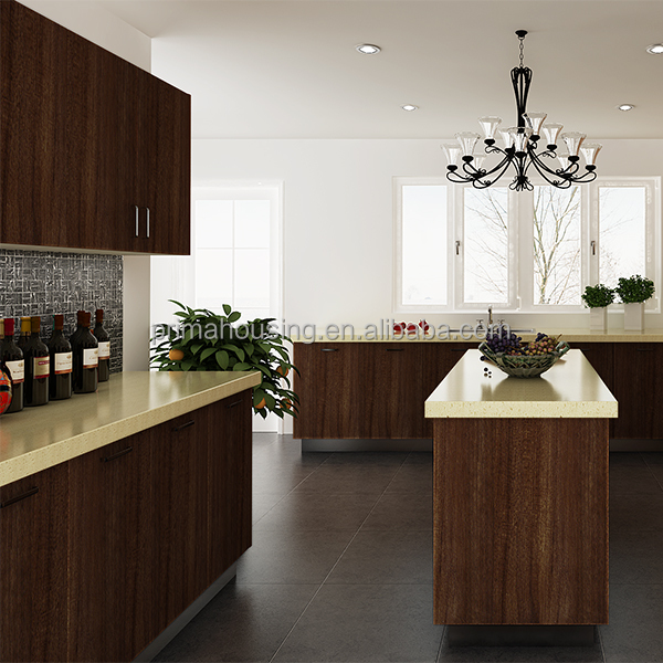 Plywood solid wood melamine board mdf door material and for Solid wood modern kitchen cabinets