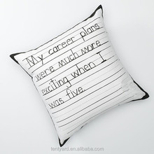 soft elegent letter shaped pillow hotel life print body pillow