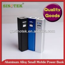 SINOTEK promotional gift 5V 2600mah lipstic tube power bank