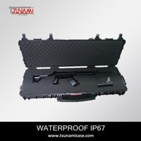 Tsunami shockproof waterproof hard hunting rifle AR15 gun cases for premium weapons