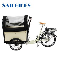 family use electric cargo bike for passenger