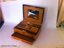 Custom glossy finish painting wooden jewelry case storage
