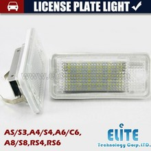 Auto A3 S3,A4 S4 B6,A6 C6,A8 S8,RS4,RS6 Led License Plate Light wholesale