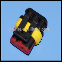 automotive electrical connectors 3pin waterproof connector housing