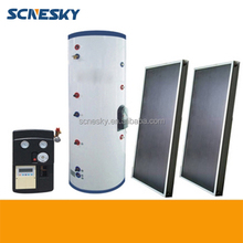 2015 China Split Flat Plate Solar Collector 80 L Solar Water Heater with Blue Chorme Collector