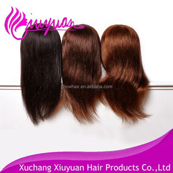 Mannequin head with training wig Cheap hairdressing human hair training mannequin head