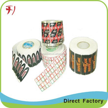 printing vinyl self adhesive sticker label,dress for bottle,use for customized glossy bottle cosmetic packaging