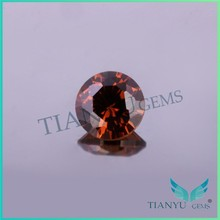 Facets gems manufacturing customizable round coffee synthetic zircon