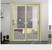Frameless fire rated glass hanging door