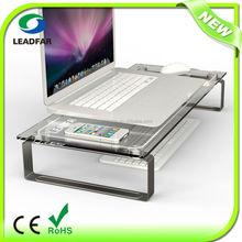 Elegant practical detachable desktop computer shelf