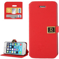 Gravel Texture with Credit Card Slots and Holder Leather Hot Selling Wallet Case for iPhone 5 5S