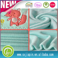 Hot sale embroidery animal baby heated fluffy coral fleece blanket