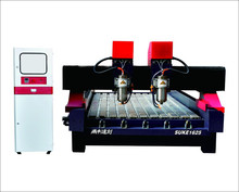 On sale stone engraving cnc router for marble and granite with two heads
