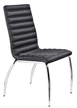 2015 hot sale comfortable leather conference waiting cheap receiption chrome frame meeting chair