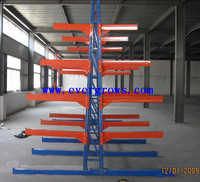 middle duty storage steel pipe rack system for water bottle
