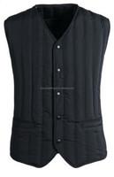 2015 Latest design sleeveless light duck down vest inside outer jacket