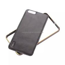 cell phone accessories Metal Aluminum Bumper Carbon fiber case For huawei horor 6plus