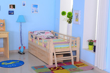 modern style customized kids bedroom furniture ,child wood single bed