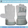 Leather working safety gloves