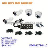 2013 HOT!!! 4ch H.264 Economic Outdoor indoor DVR System Kit,complete cctv system