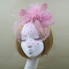 Newest Design Bridal Wedding Fascinator Mini Hat Wiht Veiling