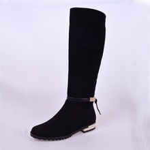 knee high boots for lady in 2015 wholesale women long leather boots