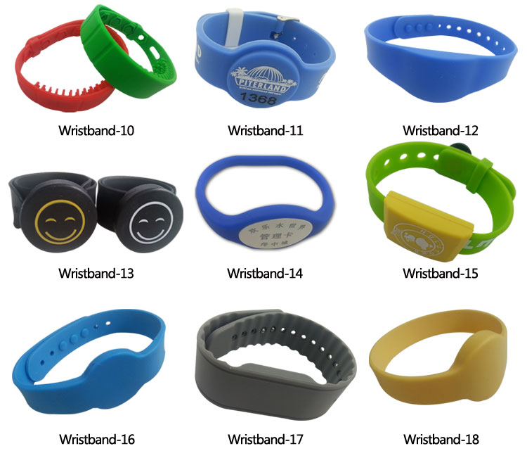 Waterproof Silicone Rfid 125khz Wristband Long Range Rfid ...