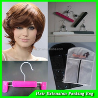 hair extension eco friendly pvc packing bag