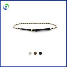 Fashion Women Belt Alloy Chain Buckle PU Leather Cheap Belts