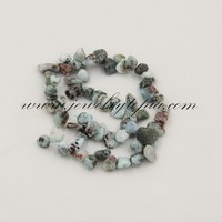 SP1228 Low Price Larimar Drop Style Chips Stone Beads Wholesale