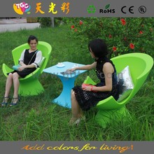 Muebles piscina, silla de plástico verde