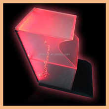 Fashion high quality acrylic display stand with colorful led